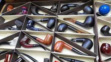 Tiroirs remplis de pipes Butz-Choquin