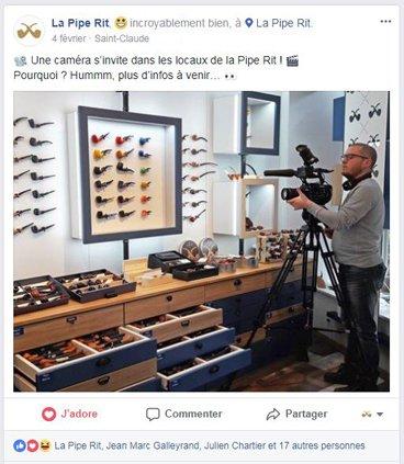 Post Facebook la Pipe Rit