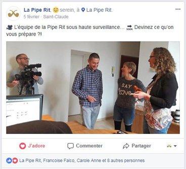 Post Facebook de la Pipe Rit