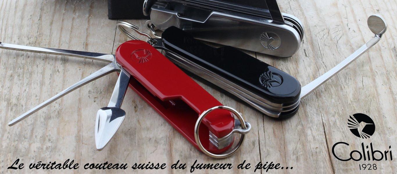 Bourre pipe 3 brins, véritable couteau suisse