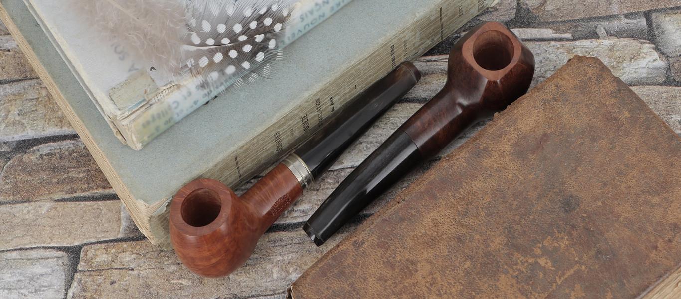 Pipes artisanales avec tuyau en corne