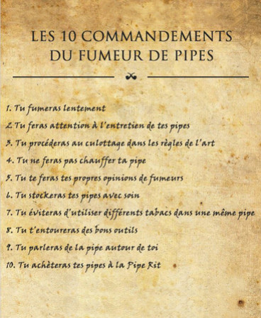 Les 10 commandements du fumeur de pipes